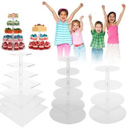 Cupcake Stand 5/7 TIER ROUND - Clear Acrylic Display Tower f