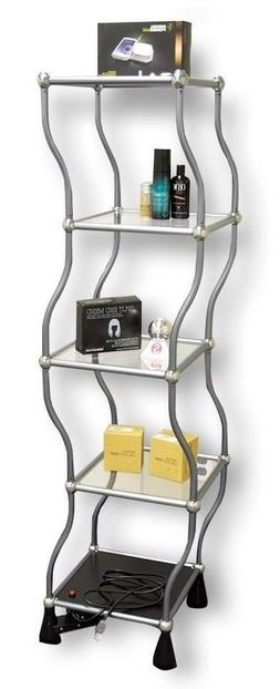 Dancing rotating Shelf stand, 5-tier Display Unit for retail