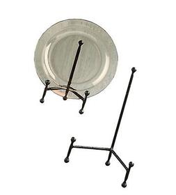 Decorative Tripod Plate Stand and Art Holder Easel in Black