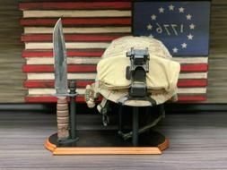 Display Stand Combo for Helmet and Bayonet - WWI, WWII Helme