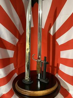Display Stand for the Japanese Type 30 Bayonet & Scabbard  U