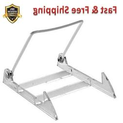 Display Stand with Clear Base Medium White Sturdy Lightweigh