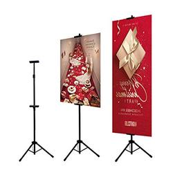 HUAZI Double-Sided Poster Stand,Floorstanding Sign Stand for