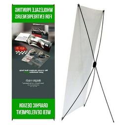 """Economic -  X Banner Display Stand 24"""" wide 63"""" tall + trave"""