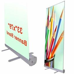 "Wholesale 33""x79"" Economy Retractable Roll up Banner Stand D"
