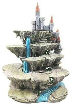 Fantasy Miniature Display Stand Waterfall With Castle Fort P