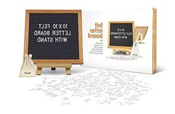 Felt Letter Sign Board 10 x 10 inches with Wooden Tripod Sta