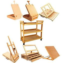 French Easel Sketch Box Tabletop Portable Folding Wooden Art
