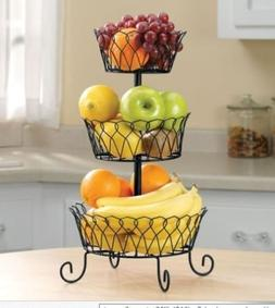 Fruit Basket Rack 3 Tier Holder Storage Organizer Stand Wire