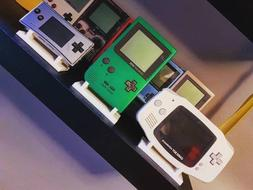 Gameboy Handheld Consoles Display Stand 3D Printed