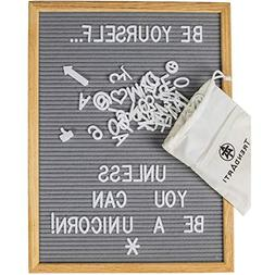 Gray Felt Letter Board with 696 Letters, Numbers & Symbols 1