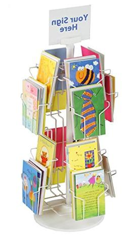 Greeting Card Display Rack with  5 x 7 Tiered Pockets for Co