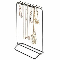 MyGift Grey Metal Necklace & Bracelet Display Stand with 18-