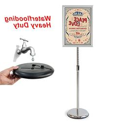 Klvied Heavy Duty Pedestal Poster Sign Stand, Adjustable Alu