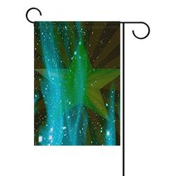 DNOVING Home Decorative Outdoor Double Sided Star Fire Green