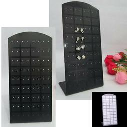 Hot 72 holes Earrings Display Stand Organizer Jewelry Holder