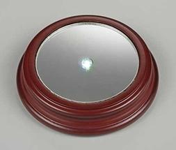 """4.75"""" Icy Crystal LED Lighted Mirror Christmas Wooden Displa"""