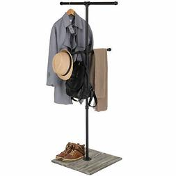 MyGift Industrial Pipe Clothing Display Stand with Vintage G