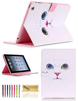 iPad Case, iPad 2 3 4 Case, Dteck Premium Flip Leather Stand