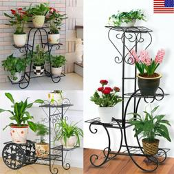 Iron Plant / Flower Corner Stand Metal Standing Plant Displa