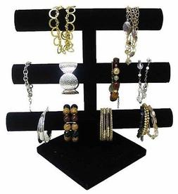 Jewelry Holder Bracelet Organizer 3 Tier Velvet Stylish Rack