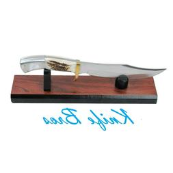 """KNIFE DISPLAY STAND Wood Grain Finish for 6""""-15"""" long Fixed"""