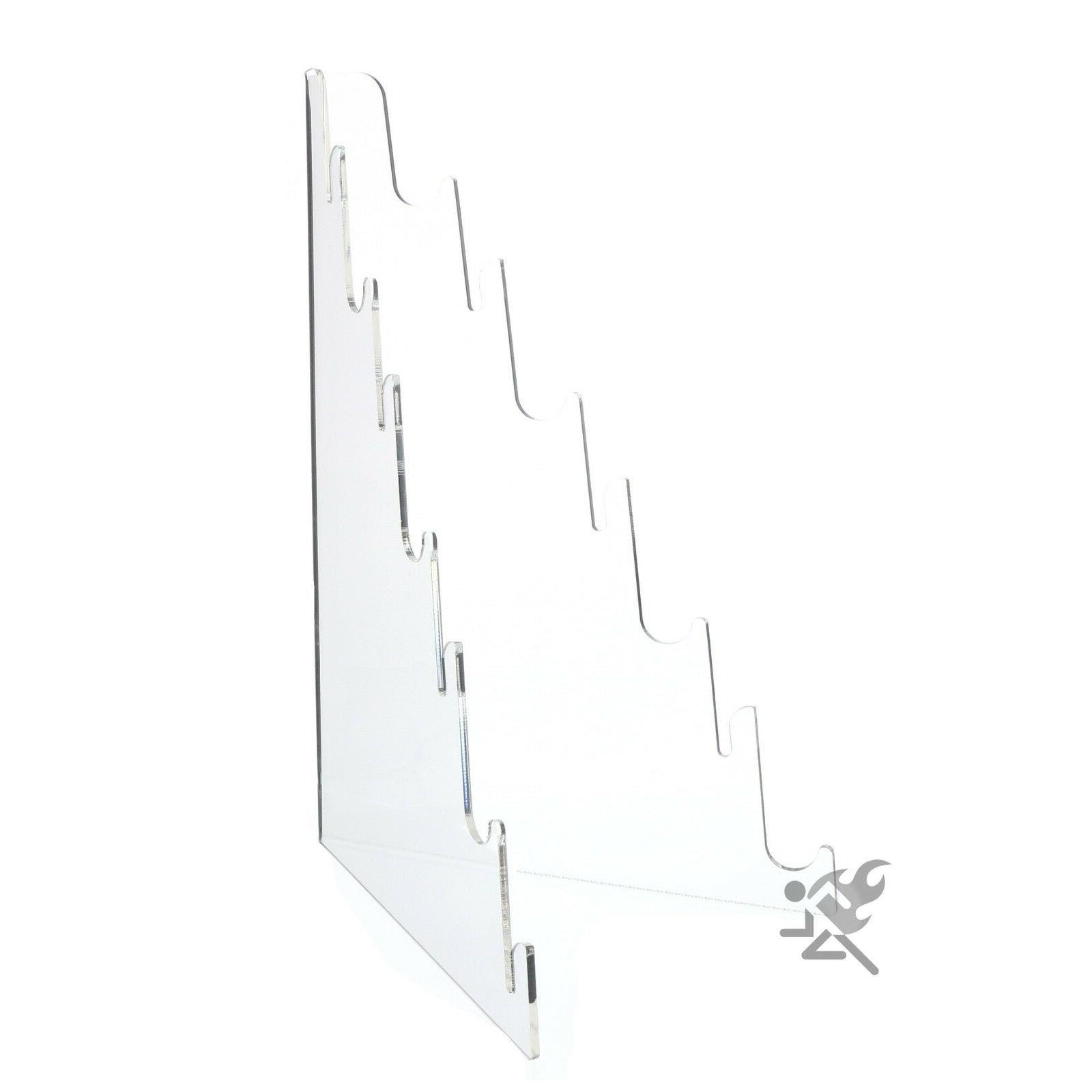 Multi Tier Knife Holder Clear Plastic Display Stand Easel Ho