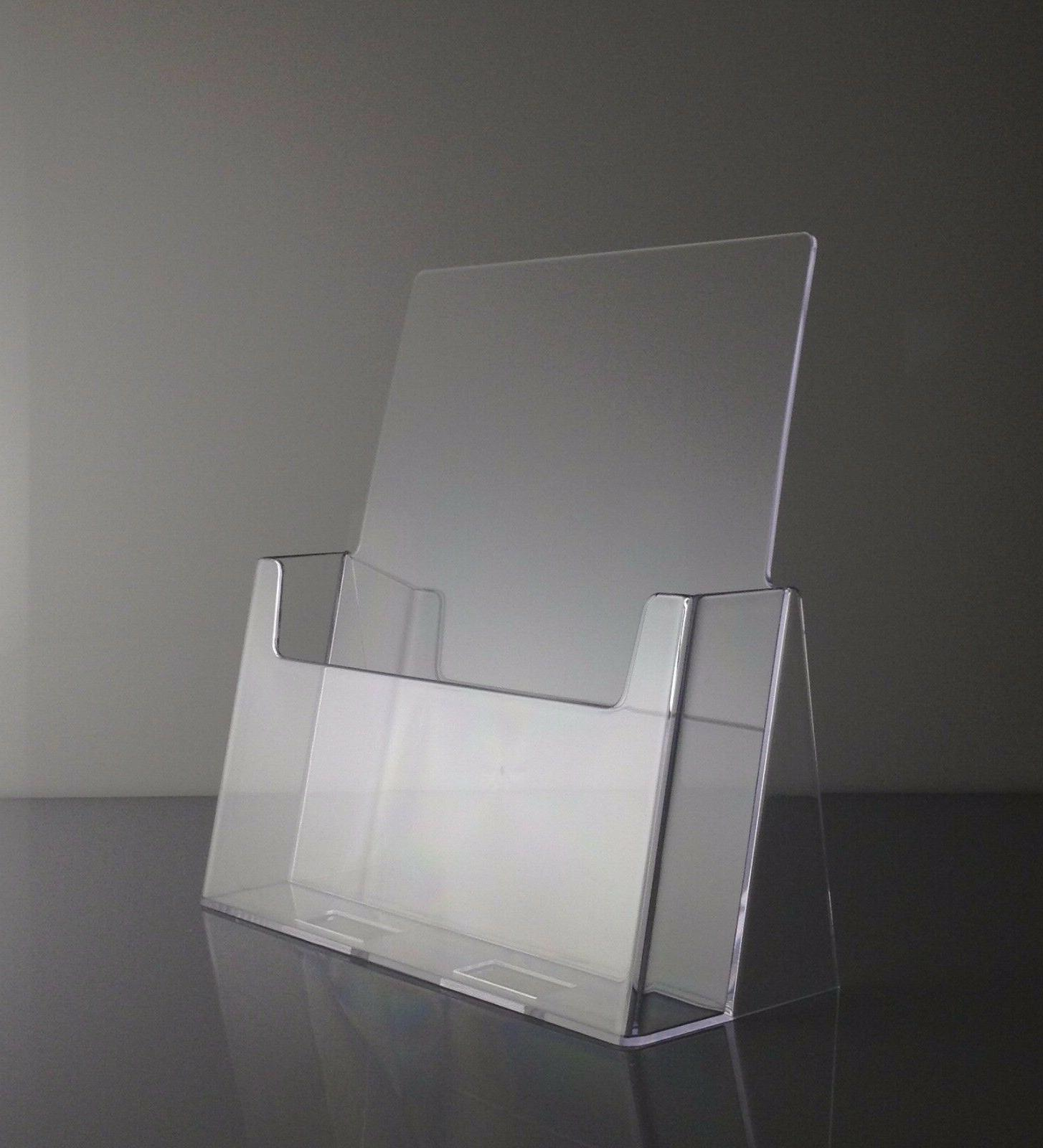 Full Page Brochure Holders 8.5 x 11 Clear Acrylic Display St