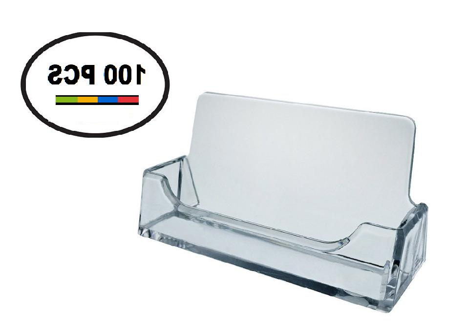 100 PK Acrylic Plastic Business Card Holder T'z Tagz Style,