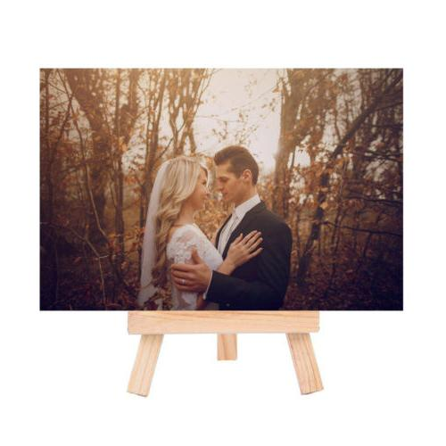 10X Photo Stand Holder Table Wooden