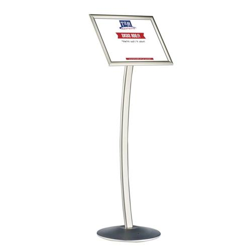 11x17 curved menu sign stand for floor
