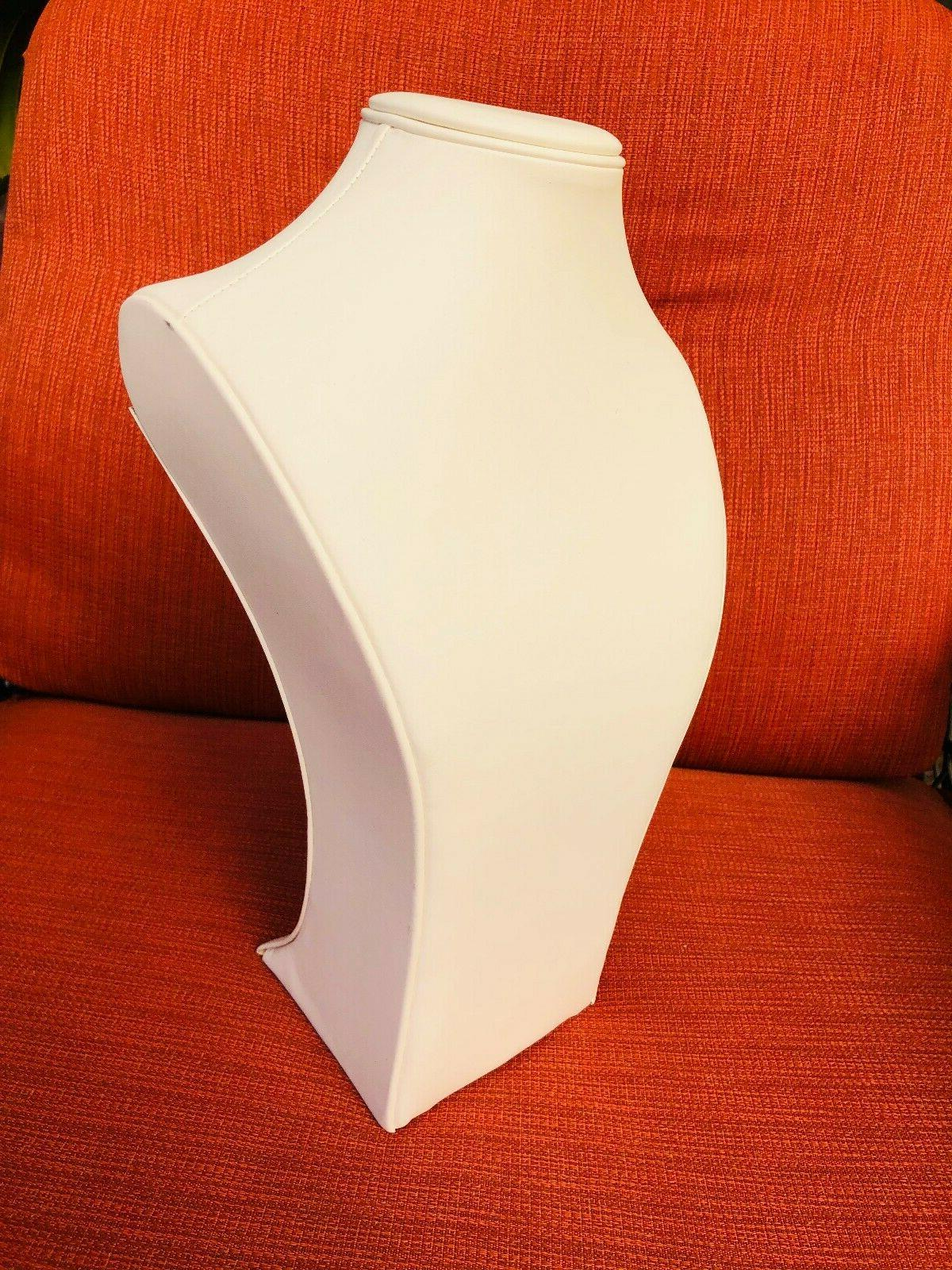 """13.5"""" Necklace Display Stand Bust Pearl"""