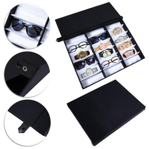 18 Slot Eyeglass Sunglasses Glasses Stand Case Box Holder