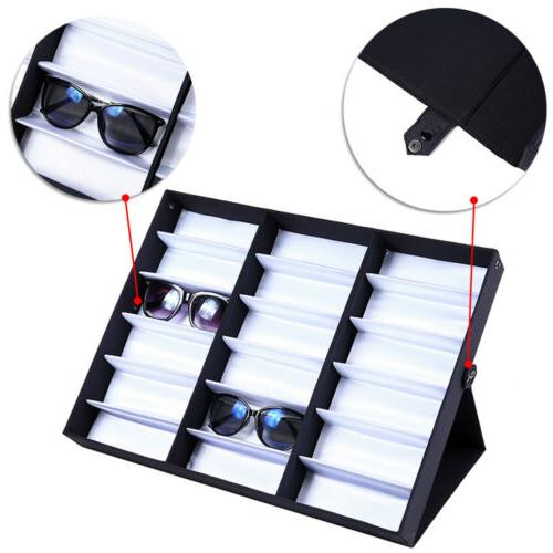 18 Glasses Storage Display Grid Stand Box Holder