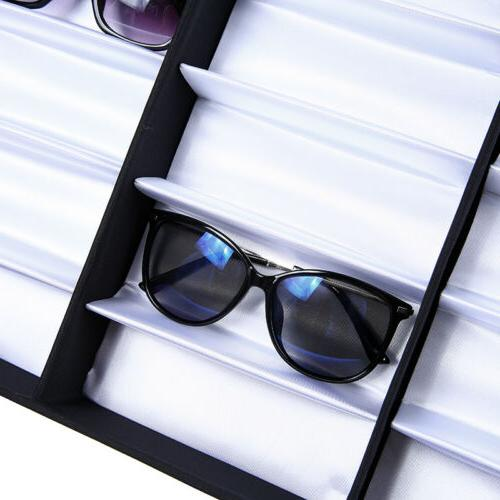 18 Slot Glasses Storage Display Stand Case
