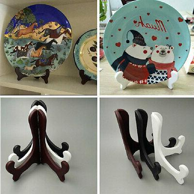 Plate Display Easel Stand Picture Art Holders Frame Award Ho