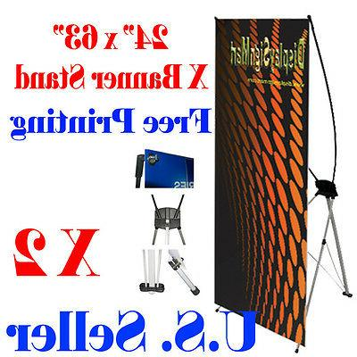 2 pc x banner stand 24 x