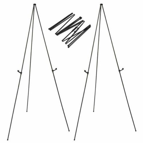 """2 Set of 63"""" Display Stand Lightweight Poster Easel Stand Du"""