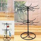 2-Tier Rotating Necklace Earrings Jewelry Display Hanging St