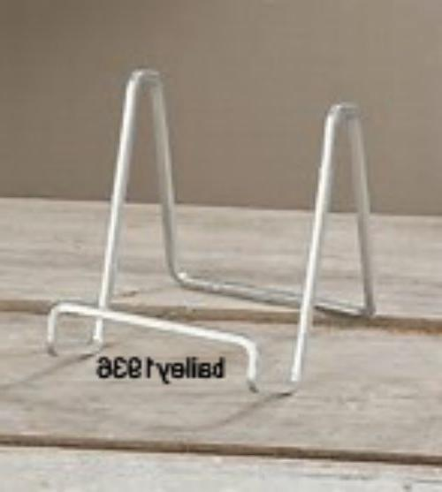 """3"""" PLATE STAND Small SILVER Square Wire Display Easel Tripar"""