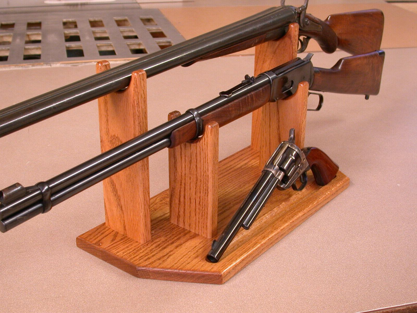 3 Gun Display Stand for & Rifle & Colt Winchester &