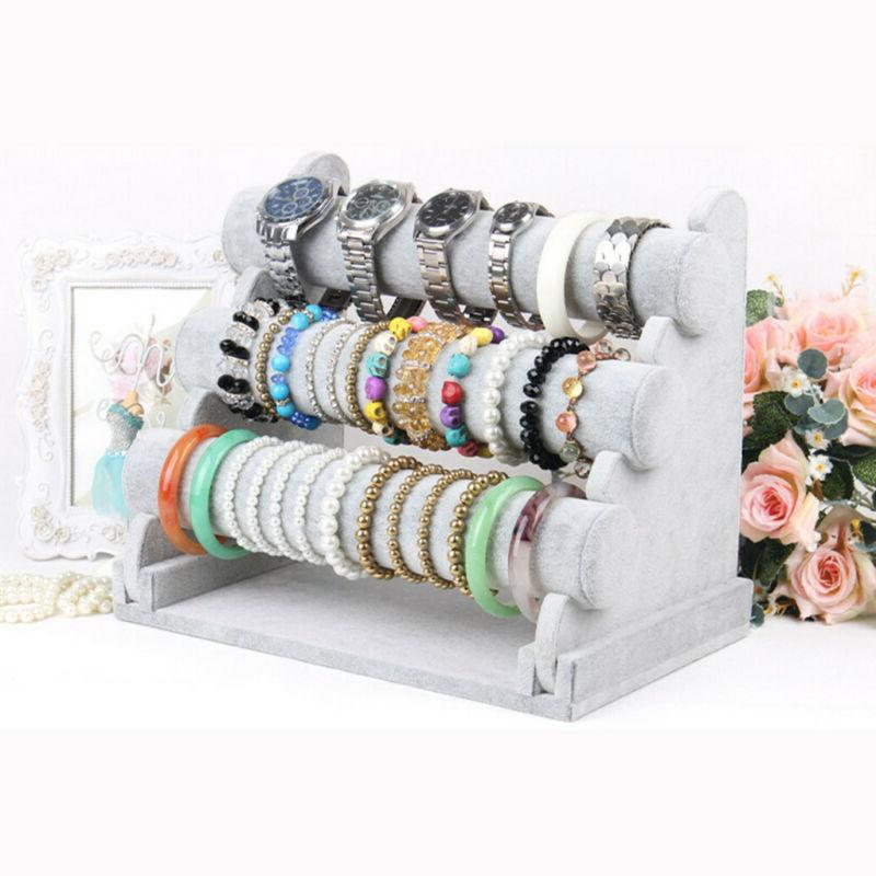 3 Tiers Jewelry Display Stand Holder Chain Bangle Watch