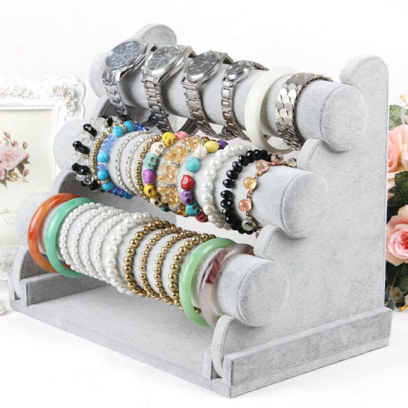 3 tiers jewelry hard display stand holder