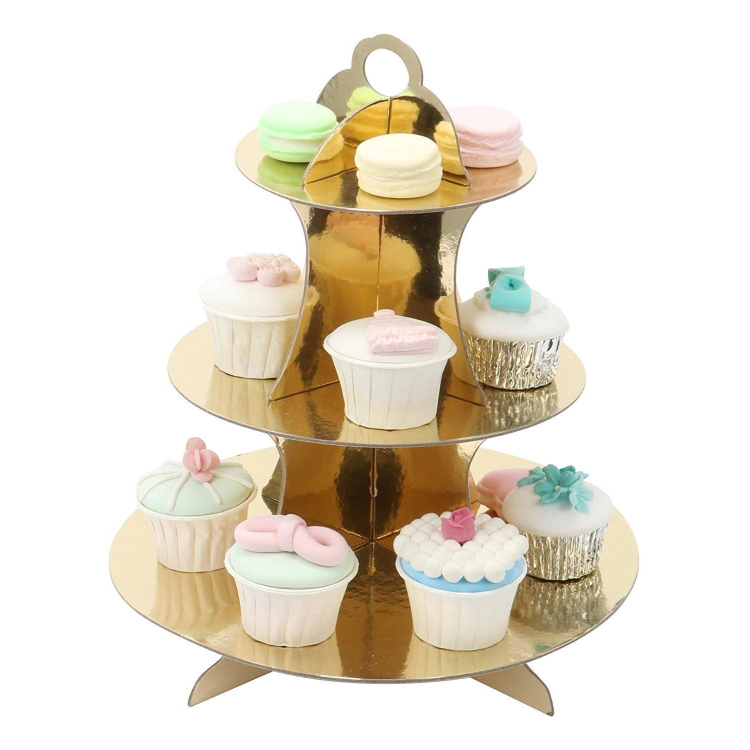 Gold Silver Display Dessert Pastry Tower