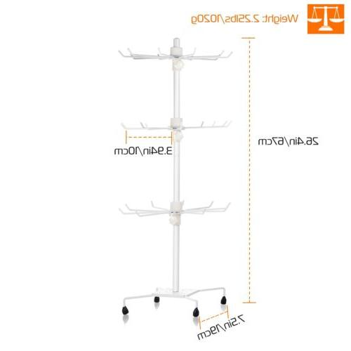 3-Tier Jewelry Rack 30-Hook Necklaces Bracelets Display Stand Tower