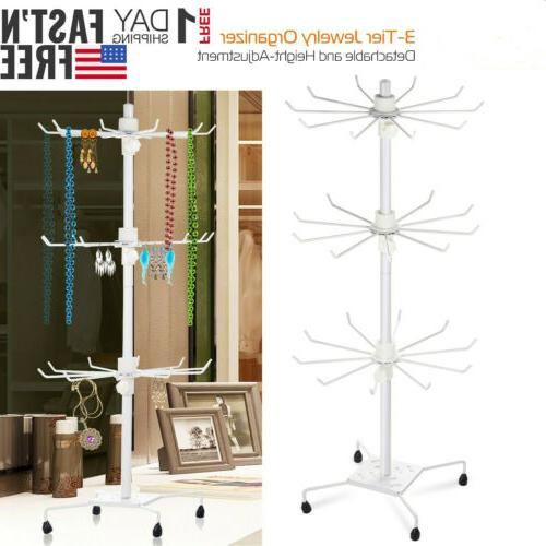 3-Tier Jewelry Rack Stand Tower Holder