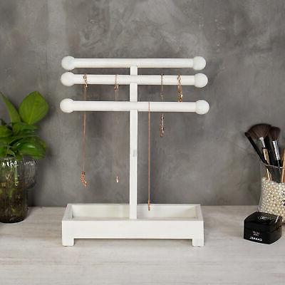MyGift Vintage White Wood Stand