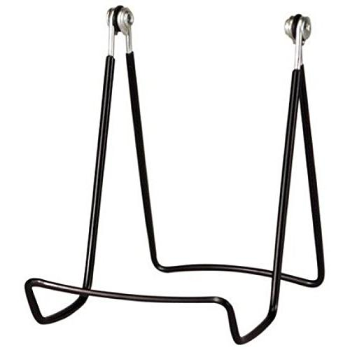 "4 Holders Adjustable Wire Easels- 3.75"" x 4.75"" H w/ ledge, Black"