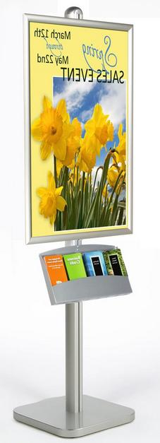 "4 Pocket 24"" x 36"" Poster Adjustable Height Metal Display St"