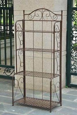 4 tier iron indoor outdoor bakers rack